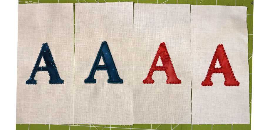 embroidery letters a motif blanket satin stitch