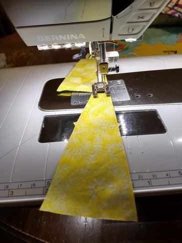 dresden plates pieces sewn