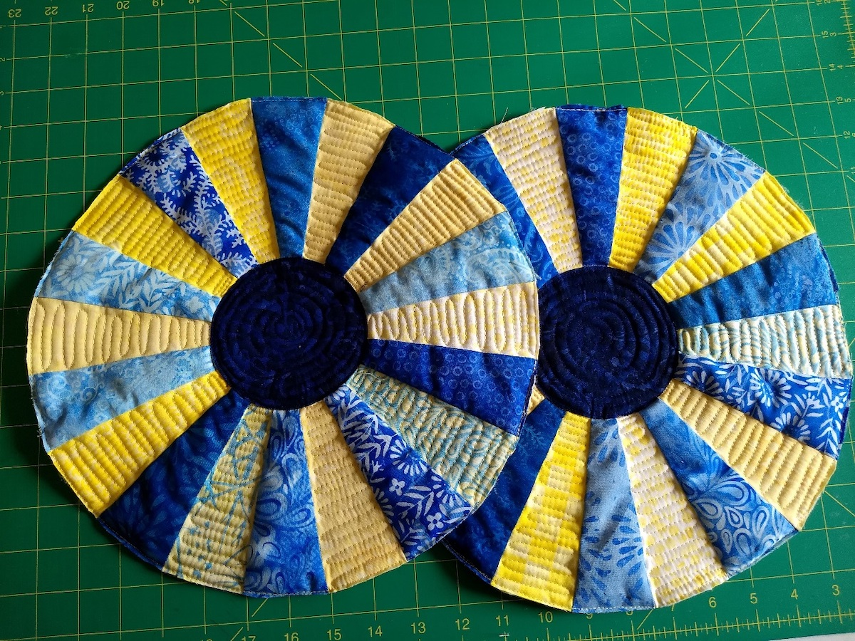 dresden plates quilted placemat quilting