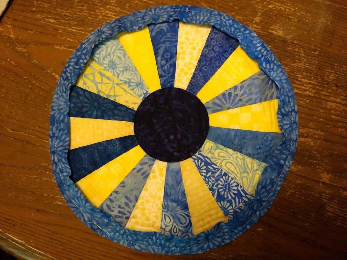 complete bias binding sewn