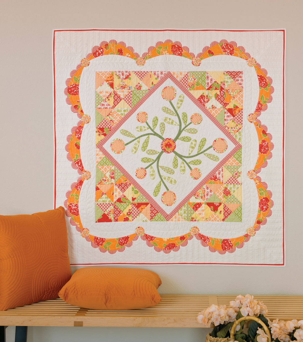 GO! swag die marmalade swag quilt