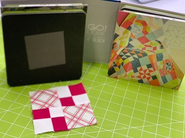 """4"""" Qube Shape #2 Die and double 4-patch block"""