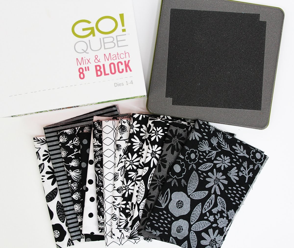go qube mix and match 8 inch block fabric dies