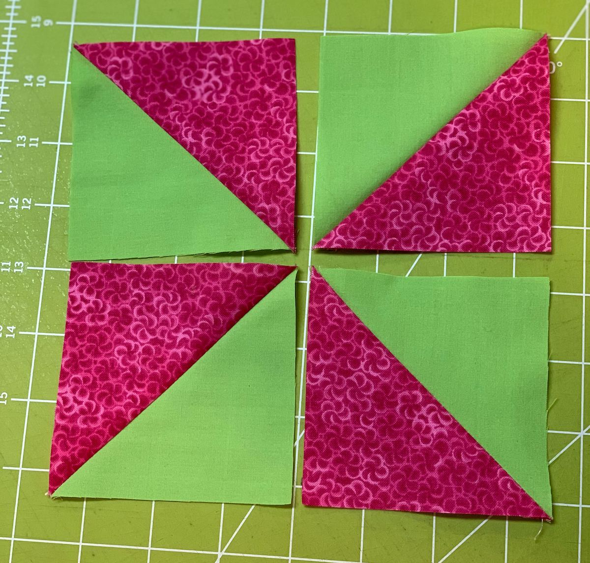 4 blocks to before sewn