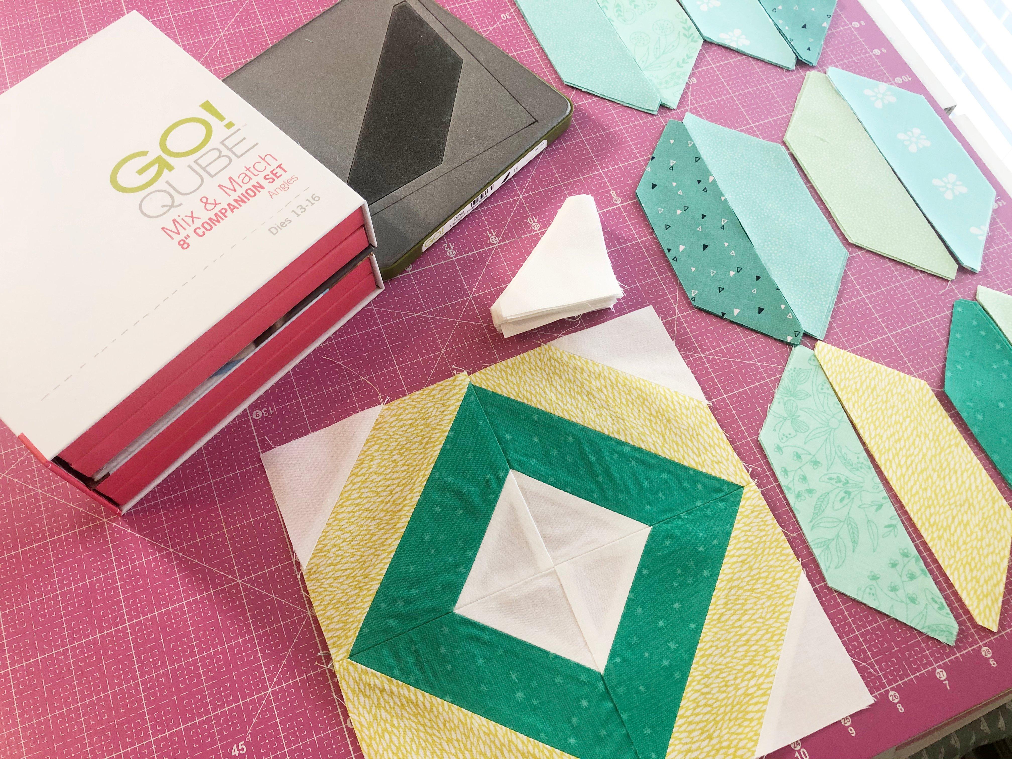 8 Angles Qube Strip Quilt Block