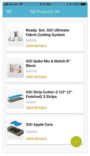 AccuQuilt App Product Library