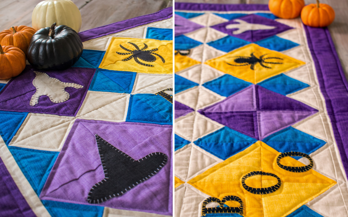 Boo Table Runner Stitched
