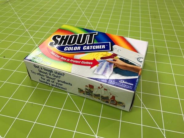 Photo of Shout's Color Catcher product.