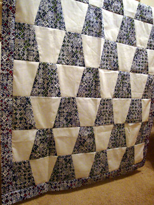 black and white full view tumbler quilt