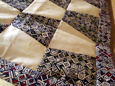 black and white tribal tumbler quilt