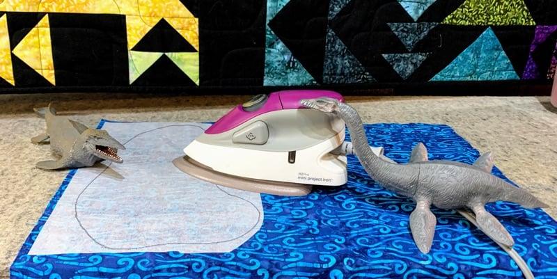 Dinosaur Playmat - ironing