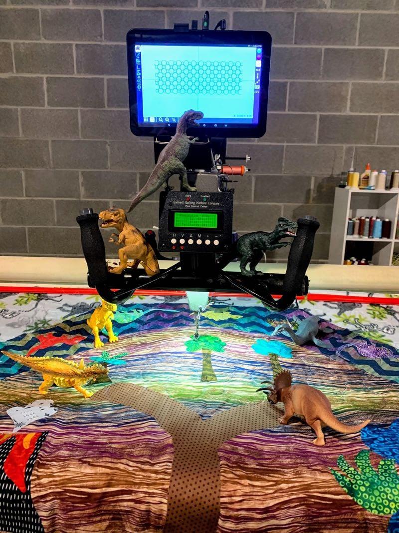 Dinosaur Playmat - longarming dinosaurs