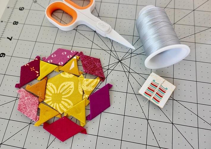 EPP AccuQuilt block before hand sewing-1