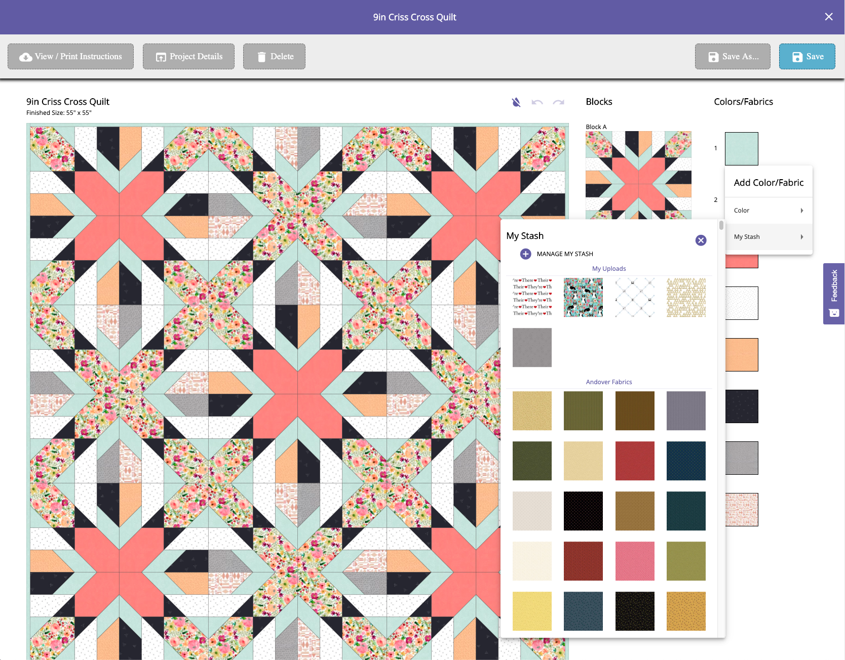 Editing a Pattern-Fabrics Open
