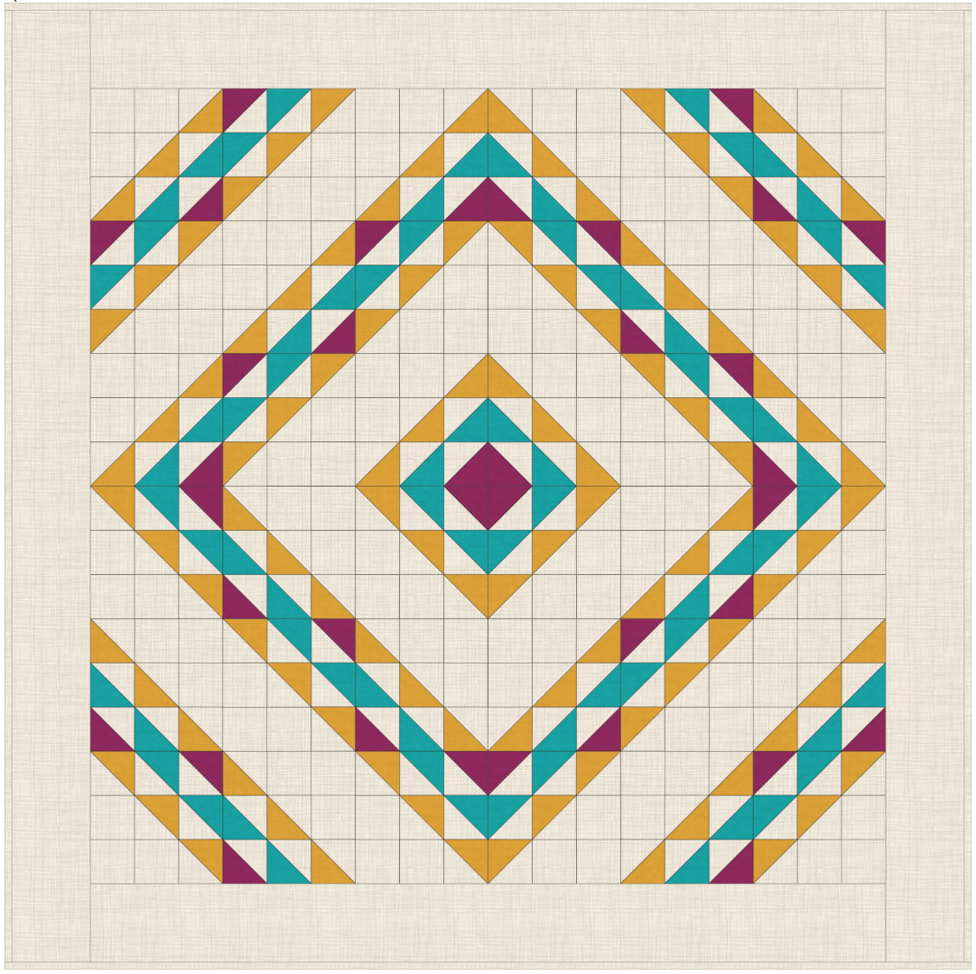 FALLing for Diamons Quilt - Andover Fabrics 2