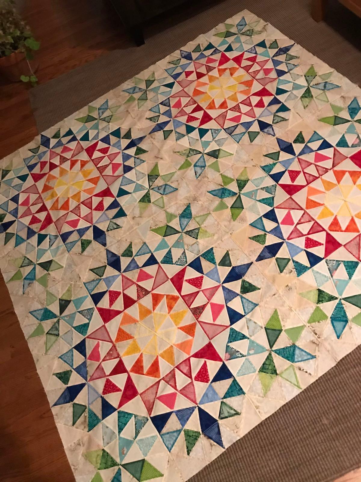 Fabric Scrap Organization - Lynn Gibney morning star