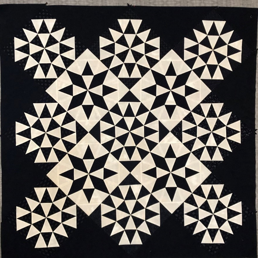 Finished morning star quilt top