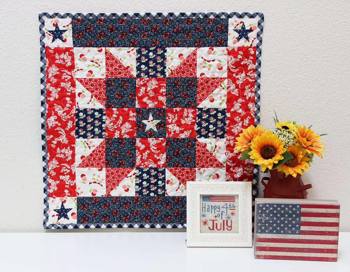 patriotic mini quilt lifestyle