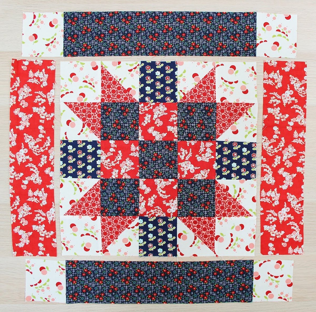 patriotic quilt block accuquilt cut
