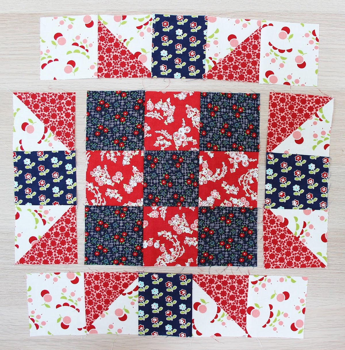 patriotic star quilt block