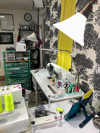 GO Getter Sewing Room-8-serger and sewing machine