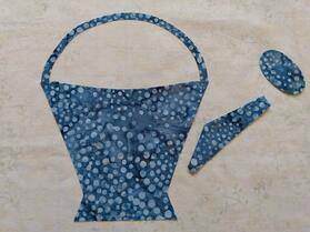 Watering Can Fabric Cut Out