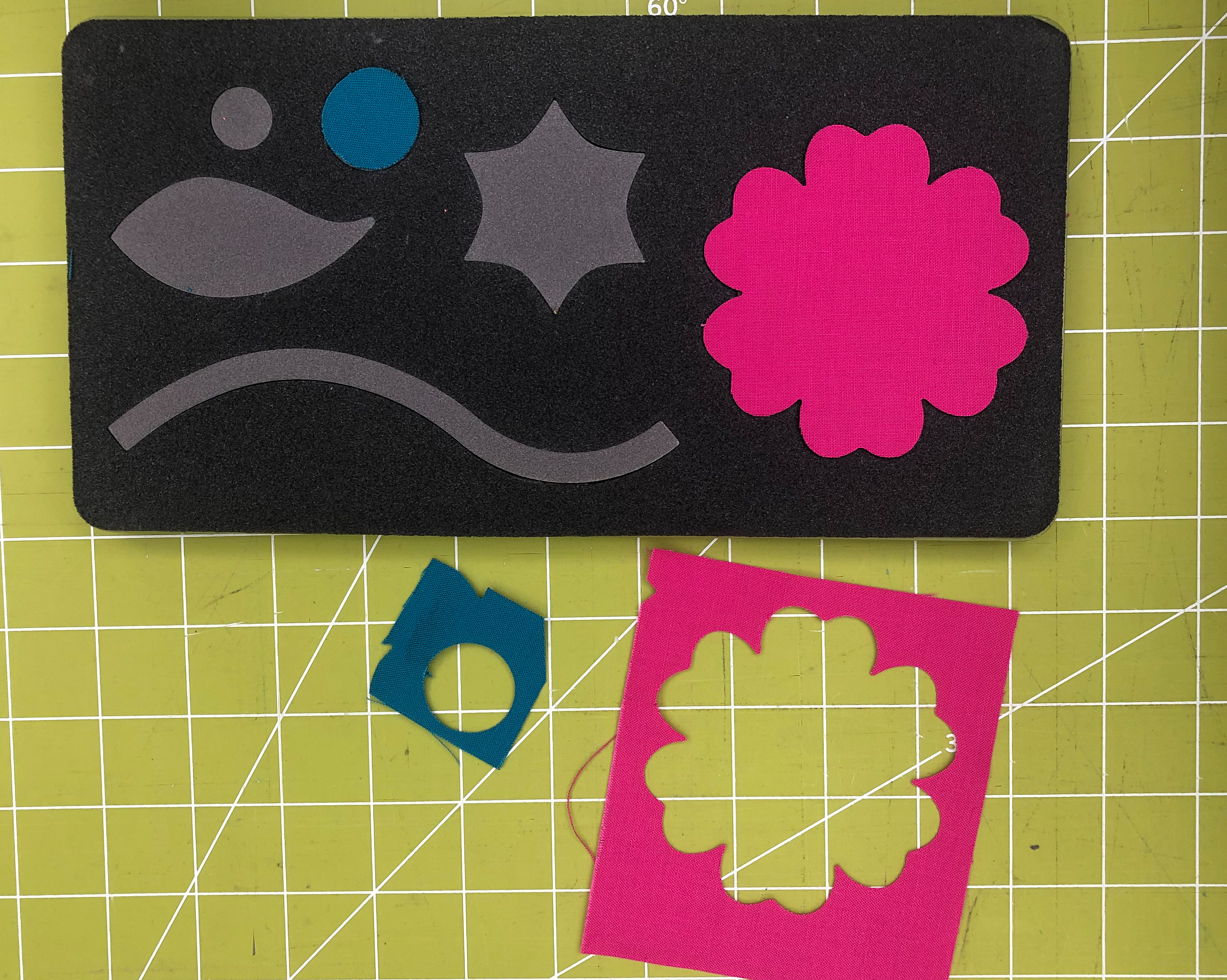 applique flower fabric saving