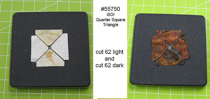 Cutting the quarter square triangles