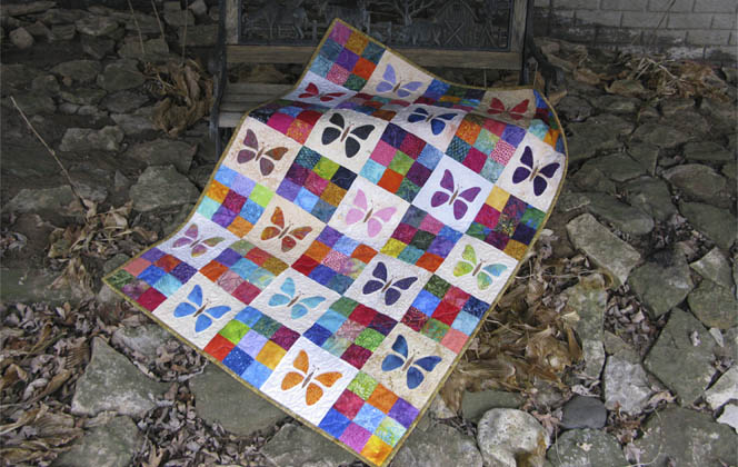 Scrappy Butterfly Baby Quilt