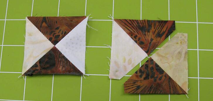 stitch the quarter square triangles