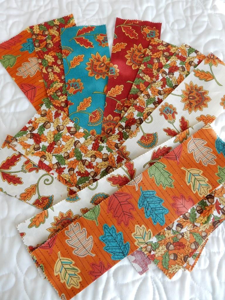 teal orange cream red layer cake fabrics