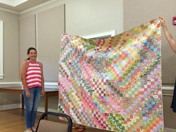 Diana w quilt top