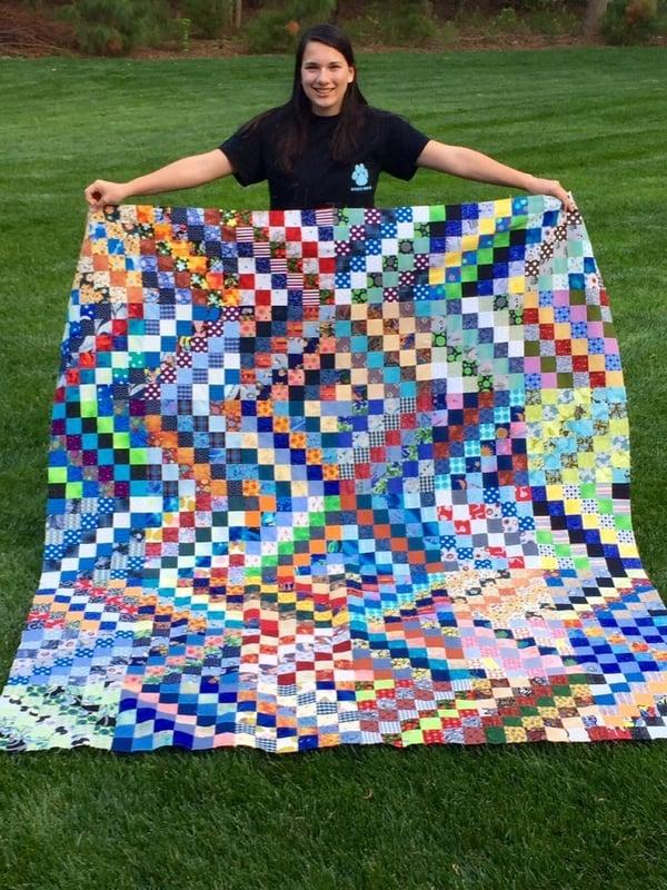 Diana w quilt top 4
