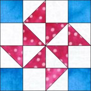 GO Flying X 8 inch Block Pattern
