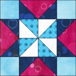 GO Pinwheel Star 8 inch Block Pattern