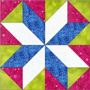 GO Red and White Cross 8 inch Block Pattern