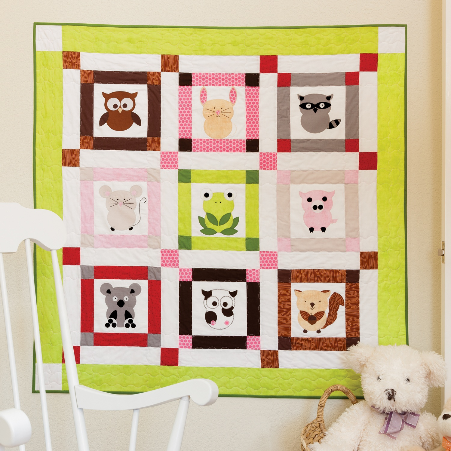 simple baby quilt pattern animals