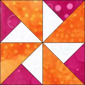 GO Turnstile 8 inch quilt Block Pattern