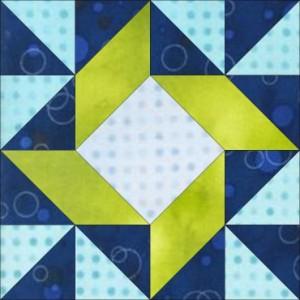 GO Windblown Squares 8 inch Block Pattern