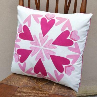 Lee Chappell Monroe Hearts Around Pillow