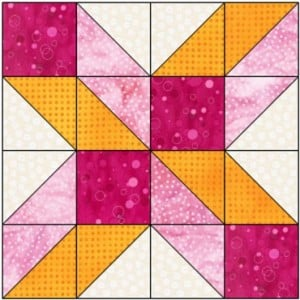 X 8 Inch Free Quilt Block Pattern