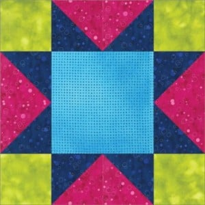 The GO! Sawtooth Free Quilt Star Block
