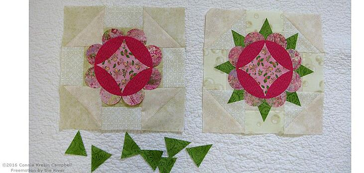 Fuse the applique pieces together for the block