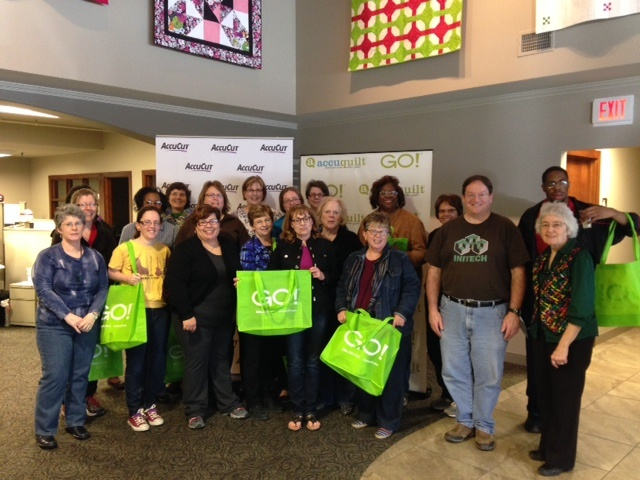 Omaha Modern Quilt Guild Visits AccuQuilt!