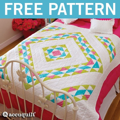 GO! Falling Diamonds Quilt Pattern