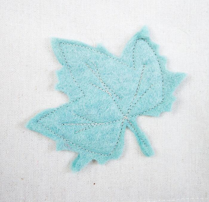 stitched leaf