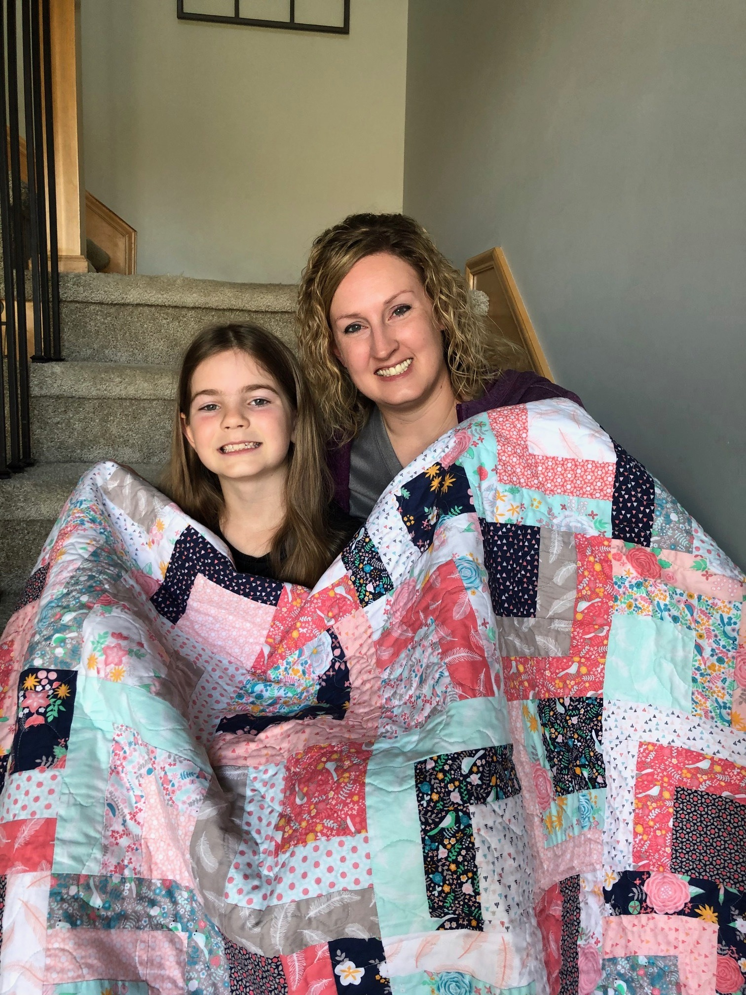 Jill and daughter quilt