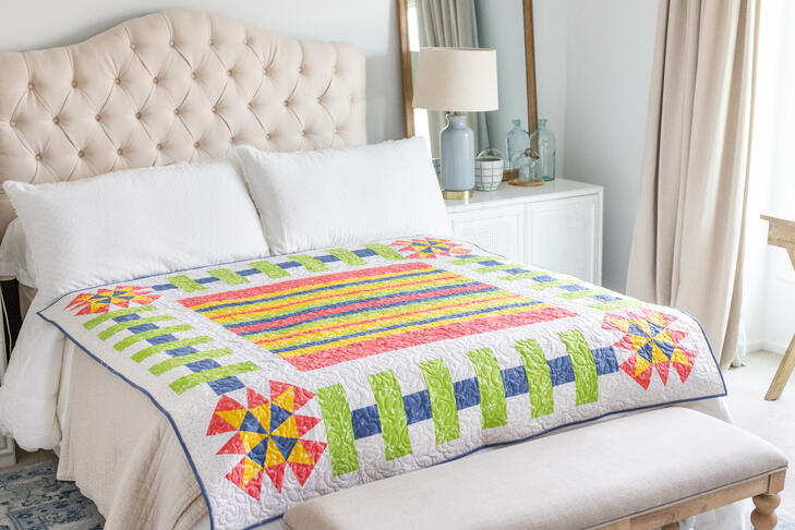 Learn how to make beautiful quilts like this on AccuQuilt's YouTube page