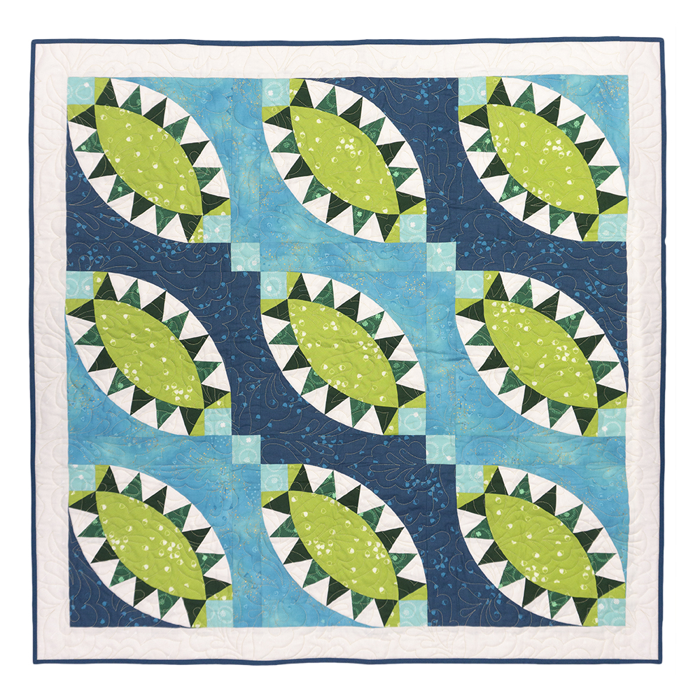 GO! Pickled Greens Throw Quilt