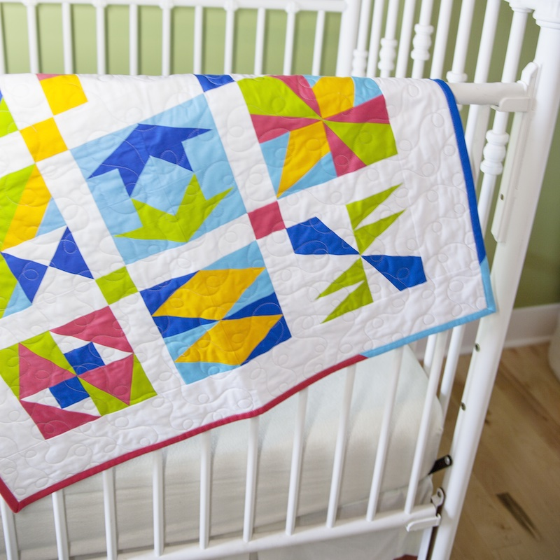 Quilting on a Budget - scrappy binding crib